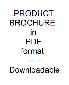 PRODUCT BROCHURE in PDF format